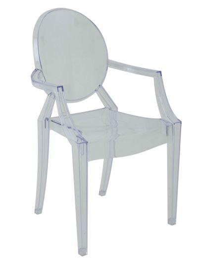 Cadeira Sophia com Braço Transparente - Moln Design Furniture