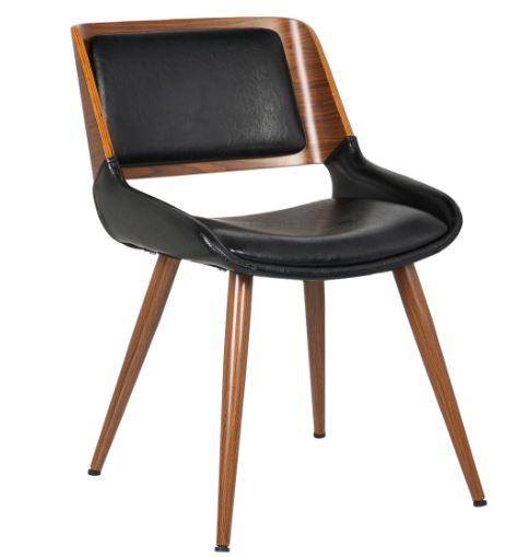 Cadeira Sueli PU Preta - Moln Design Furniture