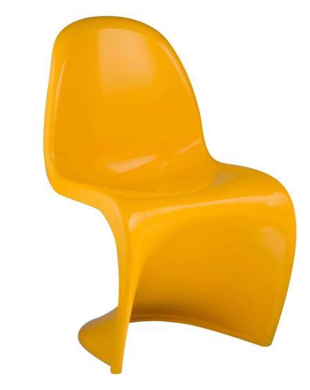 Cadeira Verner Panton Amarela em ABS - Moln Design Furniture