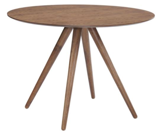 Mesa Suécia Redonda MDF Seringueira - Moln Design Furniture
