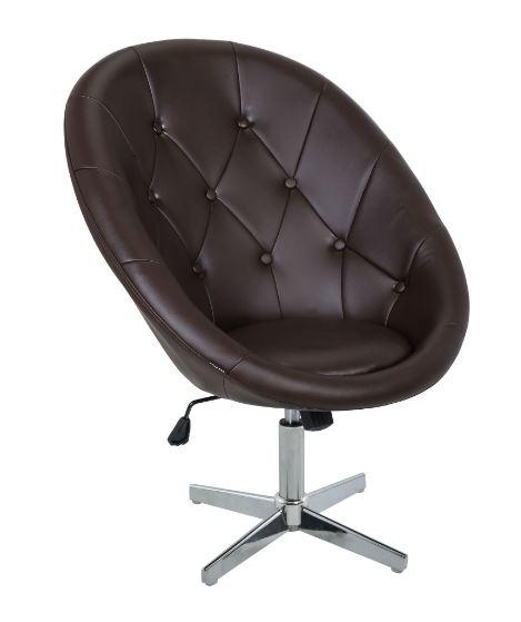 Poltrona Anne PU Capitonê Marron - Moln Design Furniture