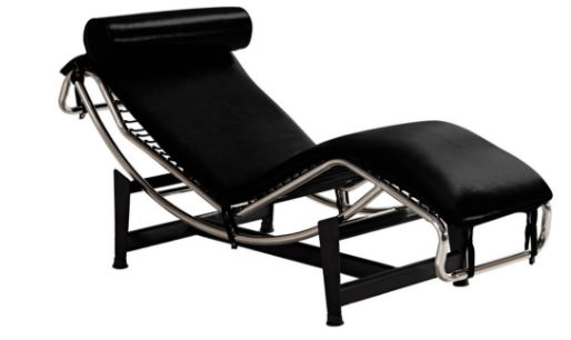 Poltrona Chaise Le Corbusier PU Preto - Moln Design Furniture