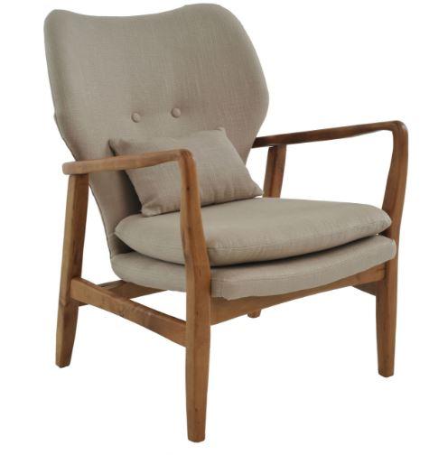 Poltrona Cibelle Linho Bege - Moln Design Furniture