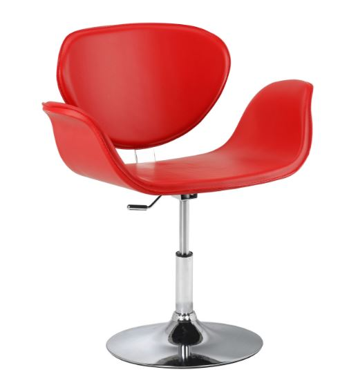 Poltrona Tulipa PU Vermelho - Moln Design Furniture