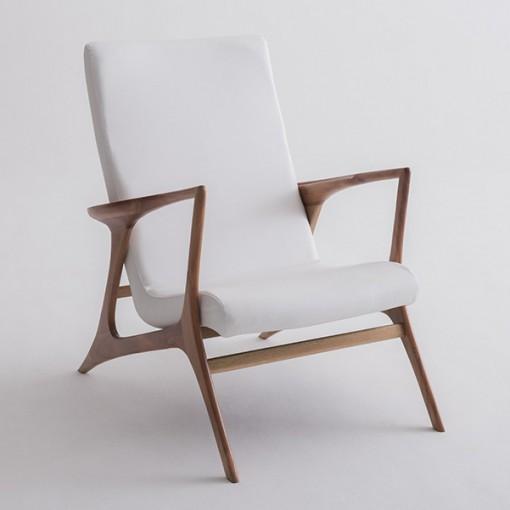 Poltrona Vladimir Kagan Couro Sintético Branco - Moln Design Furniture
