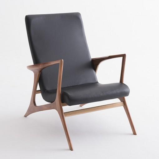 Poltrona Vladimir Kagan Couro Sintético Preto - Moln Design Furniture