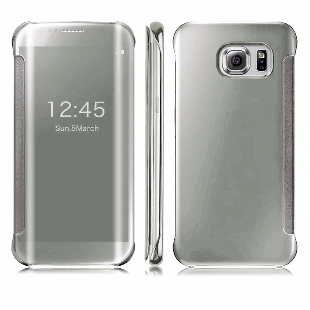 Capa Case Flip Cover Clear View Similar Galaxy S6