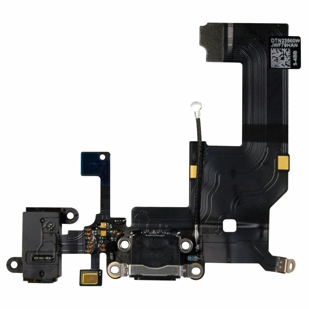 Cabo Flex Conector Dock Carga Audio Antena iPhone 5 5S 5C