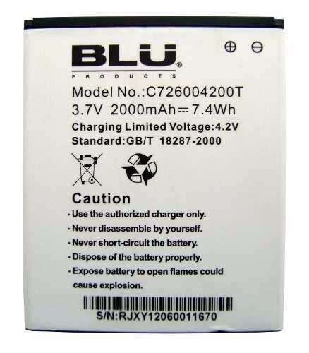 Bateria Blu Dash 5.0 D-410 D410 C726004200t Original