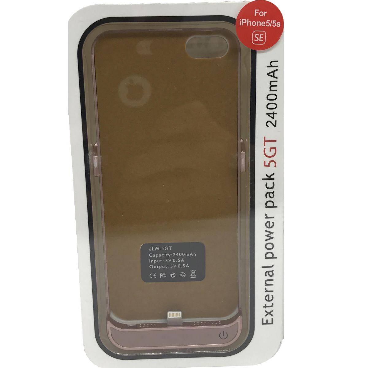 Capa Carregadora Powerbank Externa Ultrá Fina iPhone 5 5S 5C SE 2400mah