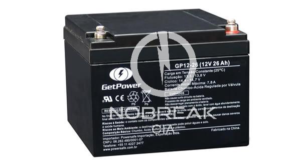 Bateria Selada VRLA 26 Ah Get Power GP12-26
