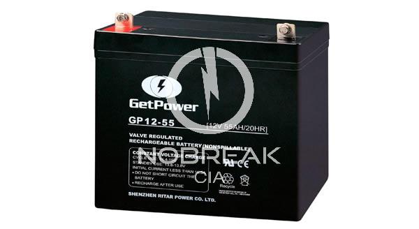 Bateria Selada VRLA 55 Ah Get Power GP12-55