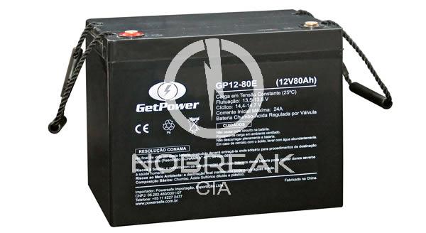 Bateria Selada VRLA 80 Ah Get Power GP12-80E
