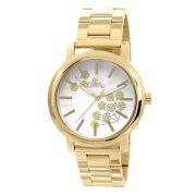 Relógio Allora Feminino Bordados Dourado AL2036CH4B