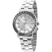 Relógio Feminino Euro Brilho Assimétrico Prata EU2035XYZ/3K
