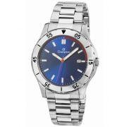 Relógio Masculino Champion Prata com Dial Azul CA30150A