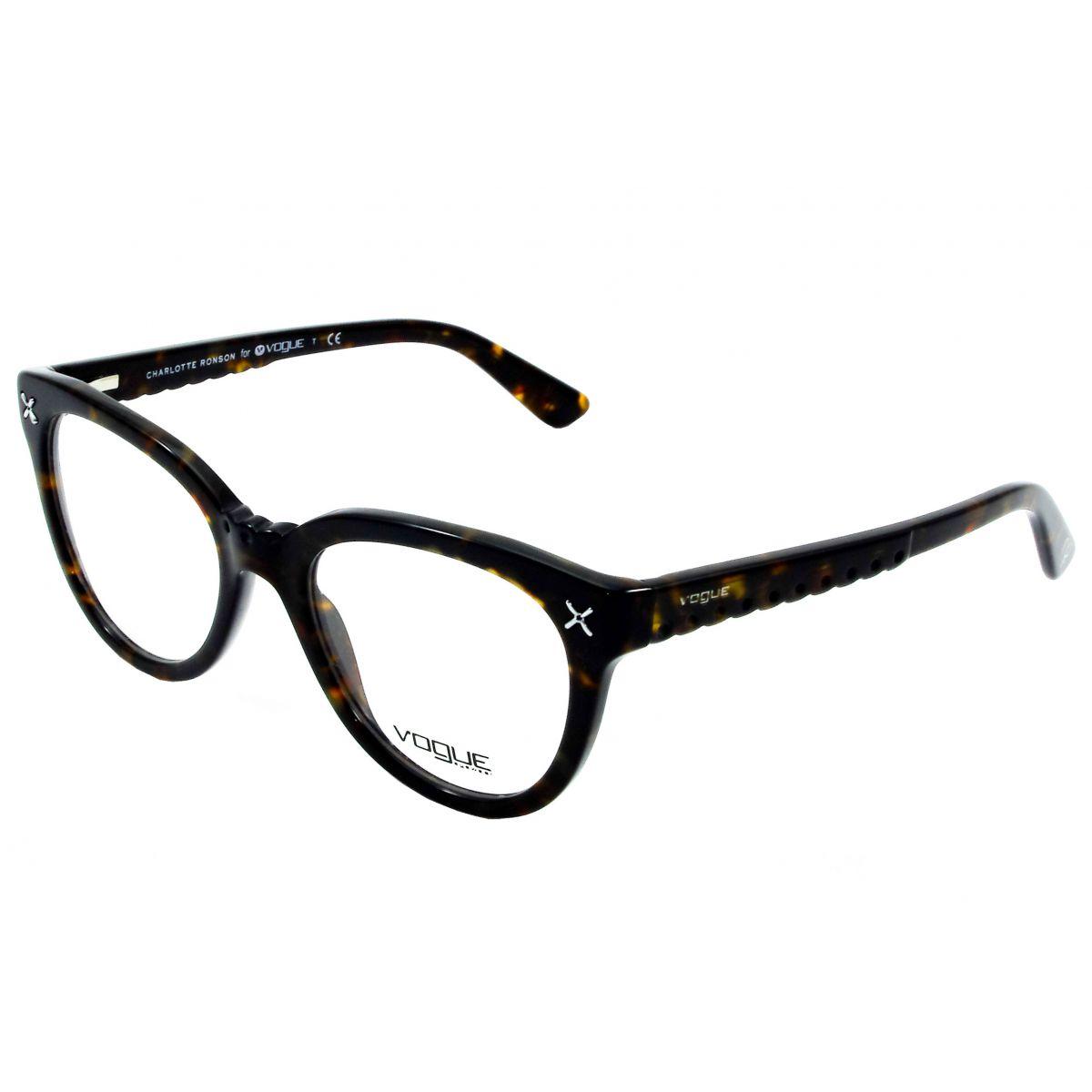 Armacao de Óculos Feminino Vogue - VO6552 Marrom Tartaruga
