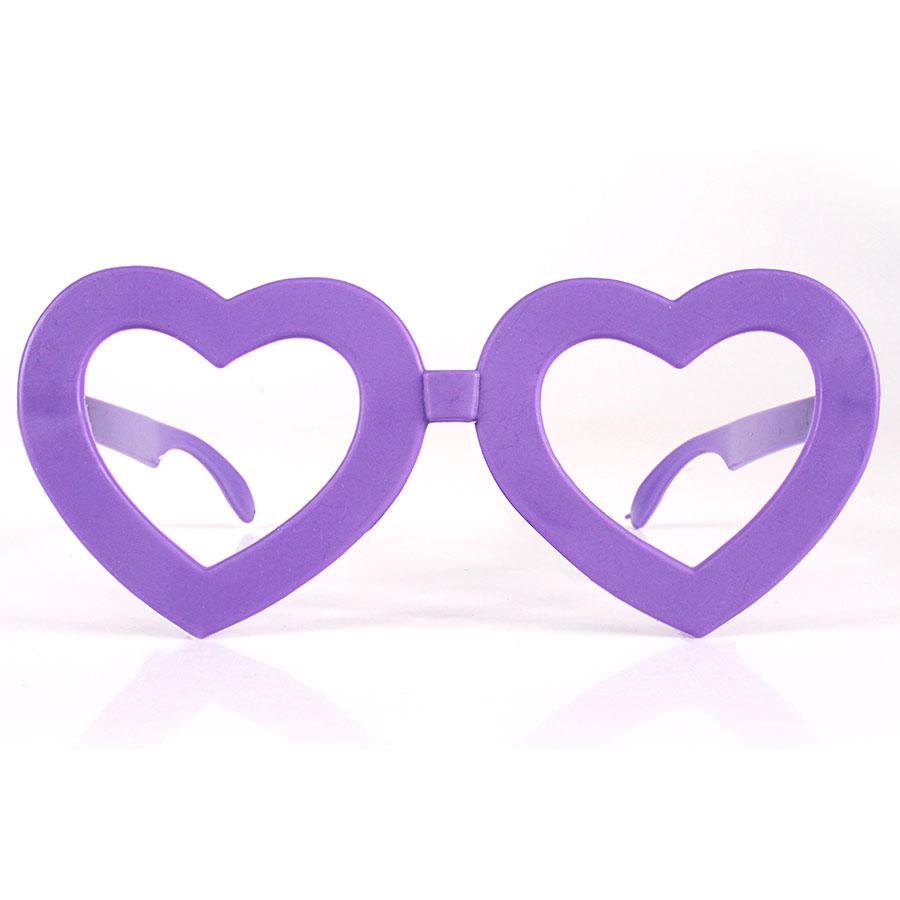 Óculos Coração Sem Lente Para Festas