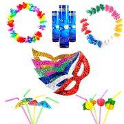 160 Peças Colar Havaiano Óculos Pulseira Neon Gravata