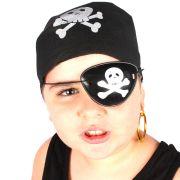 35 Kits Pirata Com Bandana Tapa Olho E Brinco