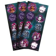 Adesivo 3 Cartelas Redondo Monster High