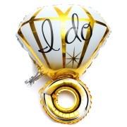 Balão Metalizado Anel de Diamante I Do - Dourado