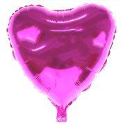 Balão Metalizado Coração Fucsia 48Cm