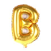 Balão Metalizado Letra B Dourado