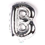 Balão Metalizado Letra B Prata