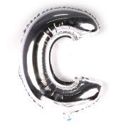 Balão Metalizado Letra C Prata