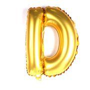 Balão Metalizado Letra D Dourado
