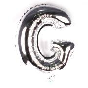 Balão Metalizado Letra G Prata