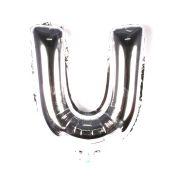 Balão Metalizado Letra U Prata
