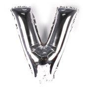 Balão Metalizado Letra V Prata