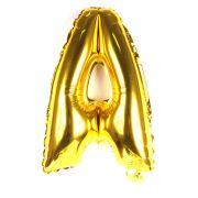 Balão Metalizado Mini Shape Letra A Dourado 70cm