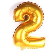 Balão Metalizado Número 2 Dourado