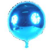 Balão Metalizado Redondo Azul 18´´