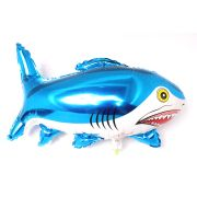 Balão Metalizado Tubarão Azul