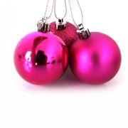 Bola Natal Pink Mista 5cm com 10 unidades