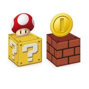 Caixa Cubo para Lembrancinha Super Mario 8 unidades