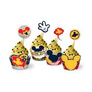 Capa para Cupcake Mickey Clássico 12 Un
