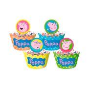 Capa Para Cupcake Peppa 12Un