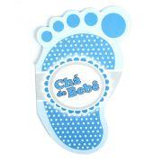Convite Chá De Bebê Pé Azul