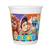Copo Plastico 200Ml Cocorico 8Un