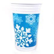 Copo Plástico Flocos de Neve 300ml com 30 unidades