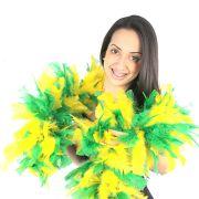 Estola Mesclada Verde E Amarela