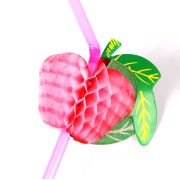 Kit 100 Enfeites P/ Drinks (Canudo Fruta E Guarda Chuva )- Sortidos