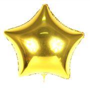 Kit 10 Balões Metalizados Estrela Dourada 48 Cm