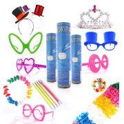 Kit 200 Pulseira Neon +30 Marabu +30 Colar Pisca +30 Óculos