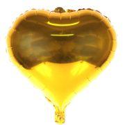 Kit 30 Balão Metalizado Coração Dourado 48cm